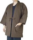 Japanese Kimono Hanten Warm Wear Winter Jacket Large size JAPAN Brown