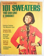 101 Sweaters knit crochet family patterns 1976 Cardigan Poncho vests Pullovers