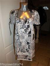 robe tunique été + jupon MC PLANET taille 36 NEUVE ÉTIQUETTE  * haut de gamme *