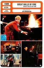 FICHE CINEMA : GREAT BALLS OF FIRE - Quaid,Ryder,Baldwin,Doe 1989