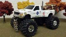 FORD, F350, ERTL, SANTA FE, 1/64, Lifted, Stack Pipe, Tow Chains, LOG LOAD