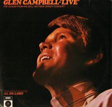 GLEN CAMPBELL live ST 21444 uk capitol LP PS VG/VG