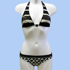 GUESS BY MARCIANO Womens bikini set BNWT green/black colour size 42/S FE2A84