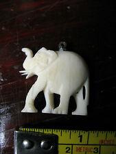 Carved Elephant Pendant Vintage Original Nice