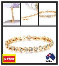 Gold Plated Bracelet Crystals Embedded Valentine's Day Birthday Wedding Gift