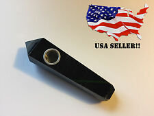 Large Natural Black Obsidian Crystal Stone Tobacco Smoking Pipe - OBS-1