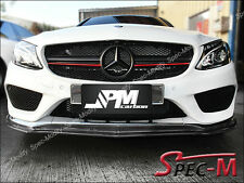 JPM S3 Carbon Fiber Front Lip for 2015+ W205 C250 C43 Coupe AMG Sports Bumper