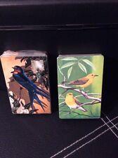 NOS NIP Vintage 1960's Set of Two 2 Decks Blue Bird and 2 Yellow Birds Stardust
