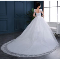 Spitze Hochzeitskleid Brautkleid Kleid für Braut Schleppe sofort li. 3XL BC498