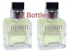 2X Eternity By Calvin Klein Men Mini 0.5 oz 15 ml Eau Toilette Dab On