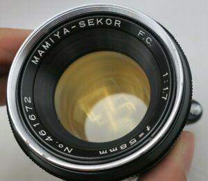 Mamiya / Sekor FC 58mm F1.7 Exakta KE Mount Lens For SLR/Mirrorless Film Cameras