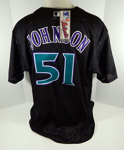 Arizona Diamondbacks Randy Johnson #51 Authentic Black BP Jersey Majestic NWT