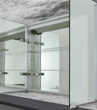 Spiegelschrank Badezimmerschrank Badspiegel Licht Led Alurahmen 80x70cm 2 Turig