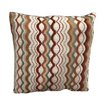 """Pair of Decorative Throw Pillows Multi Color 16 x 16"""" NWOT Geometric Earth Tone"""