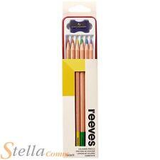 Reeves Crayons De Couleur Etain Jeu De 6 Dessin Crayons De Couleur & Affûteuse