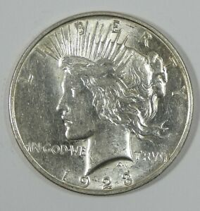 1923-D Peace Dollar ALMOST UNCIRCULATED Silver Dollar