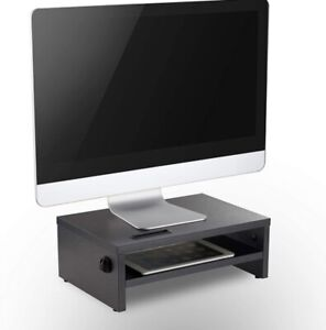 Desk Monitor Stand Screen Riser for Computers Laptops PC & Printers VonHaus