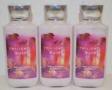 3 Bath&Body Works Crepúsculo Bosque Crema Loción Firma Karité Vitamina E Nuevo