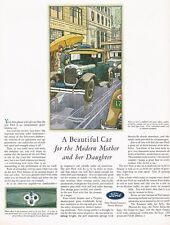 1928 BIG Original Vintage Ford Sport Coupe Motor Car Automobile Art Print Ad