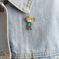 Enamel Afro-hair Cool Boy Brooch Clothing Badge Metal Pins Jewelry Gift YU