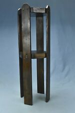 """Vintage MINIATURE WOOD PARLOR TABLE PLANT STAND OCTAGON TOP 19.75"""" TALL #06450"""