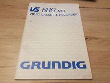 Originale Grundig Bedienungsanleitung  für VS680   12 Monate Garantie*