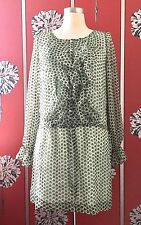 NEW ANTIK BATIK SILK DRAW STRING DRESS S