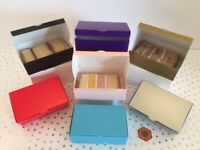 50 / 30 /15 Luxury White lined Single Cake slice favour boxes Size 105x65x35mm