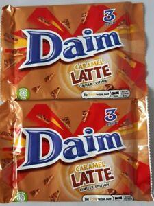 2 x DAIM Chocolate Bar Caramel Latte Flavour  6 x 28g Bars NEW