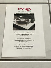 THORENS  Original Katalog 1990er Jahre