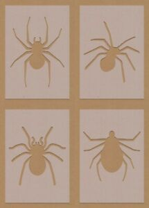 Spider Insect Stencil mixed designs and sizes craft decorating air brush