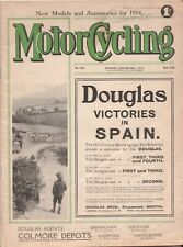 Motor Cycling No 207 1913 MAGAZINE Vintage Motorcycling Motorcycle