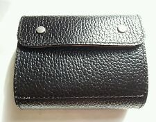 12 g co2 capsule real leather wallet/ holder. Black/Burgundy with silver studs.