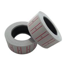 10 Rolls Price Label Paper Tag Sticker For Mx-5500 Labeller Gun White Red Line
