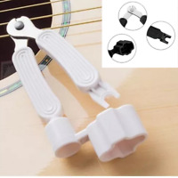 3 in 1 White Guitar Repair String Winder Cutter Pin Puller Change String Tool