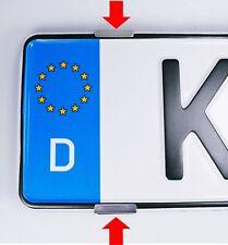 2x Kennzeichenhalter Rahmenlos Edelstahl Nummernschildhalter für 1 Kennzeichen