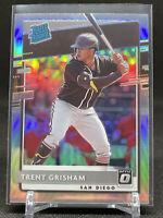 Trent Grisham 2020 Panini Donruss Optic Silver Holo Prizm Rated Rookie RC Padres