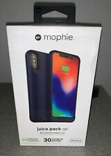 mophie Juice Pack Air Protective Battery Case for Iphone X/XS Navy 31 Hrs. New!
