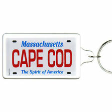 Cape Cod Massachusetts License Plate Acrylic Rectangular Souvenir Keychain 2.25""