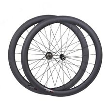25mm wide Sapim CX-RAY 50mm Carbon Clincher Wheelset 700C Road Bike Rims UD matt