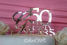 Gold Acrylic Golden annivesary 50 years cake toppers decorations