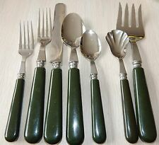 GINKGO GIK3 Set Stainless Forest Green Handle Service for 8 - FREE SHIPPING