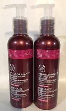 The Body Shop Pomegranate Softening Cream Cleanser Pump 6.7 oz New. X2.