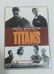 Remember The Titans (DVD) Region 4 Denzel Washington, Will Patton