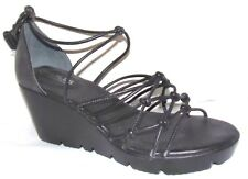 New Charles by Charles David Vegas Black Strappy Wedge Sandals