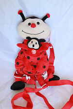 Plush Backpack Doll Toy Safety Anti-lost Harness Leash Kids Toddler Lady Bug RED