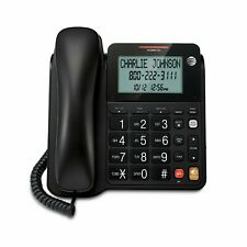 AT&T Single Line Corded Phone with XL Tilt Display Black ATCL2940