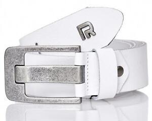 Red Bridge Herren Gürtel Ledergürtel Echtleder Leather Belt RBC Premium Weiß M70