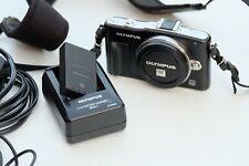 Olympus PEN E-PM1 12.3MP Digital Camera - Black/Silver (Body only)