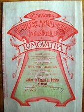 Russian-Belgium bond Colliery Metalurgical & Industrial of Lomovatka 1899